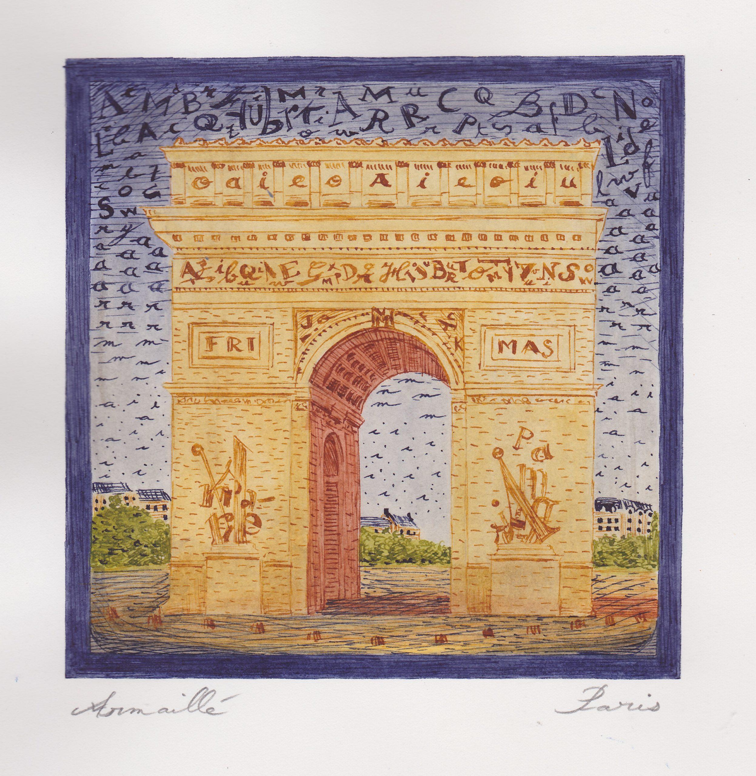 Arc de Triomphe de l'étoile recadre