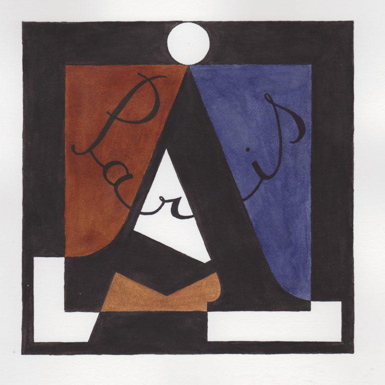 Logo peint