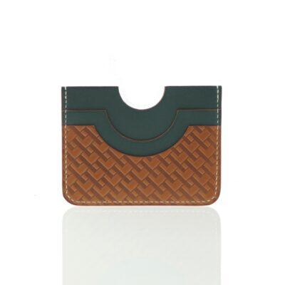 Porte-cartes Monogramme Vert
