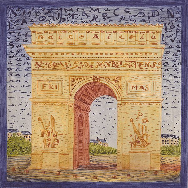 Arc de triomphe illustration 600x600